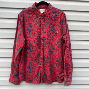 Obey Propoganda Red Paisley Print Shirt XXL